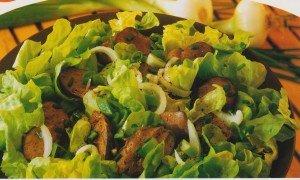 Salade tiède de foies de volaille 001